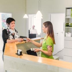 Praxis - Dr. med. Ingeborg Merz - Patientenempfang Dr. Merz